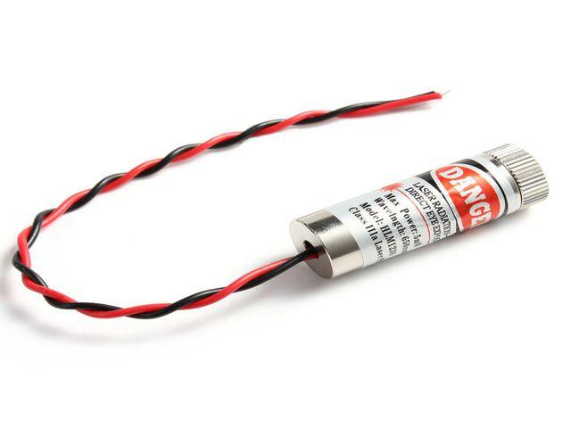 Laser 5V 650nm 5mW Foco Ajustável