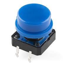Chave Táctil 12x12mm com Capa Azul
