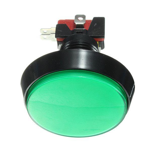 Botão Arcade Fliperama Iluminado 60mm Verde