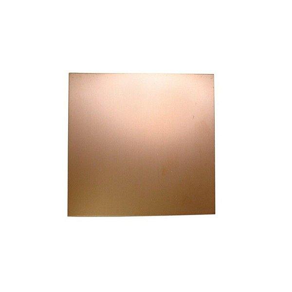 Placa Fibra de Vidro Cobreada Face Simples 5x5 cm
