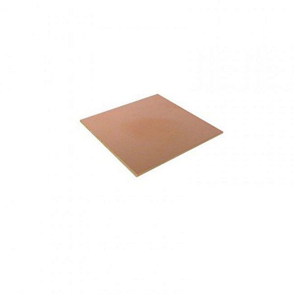 Placa Fenolite Cobreada Face Simples 20x20 cm