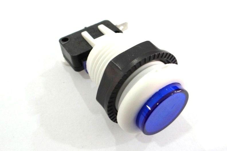 Botão Arcade Fliperama 34mm Azul