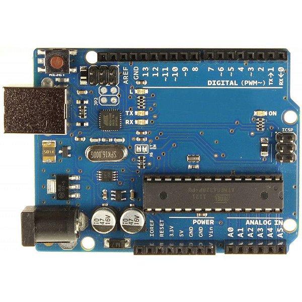 Placa Microcontrolador ATMEGA328P-PU (Compatível com Arduino Uno)