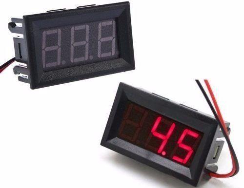 Voltímetro Digital Medidor Bateria 4.5-30VDC