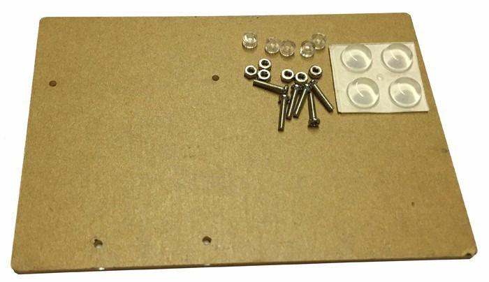 Base Acrílica para Fixação Arduino Uno e Protoboard 400 Furos