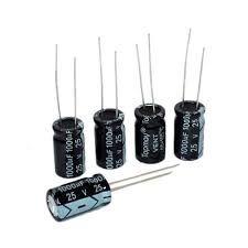 Capacitor Eletrolítico 1000uF 25V - Kit com 5 unidades
