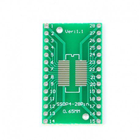 Adaptador SOP28/SSOP28/TSSOP28 SMD para DIP-28