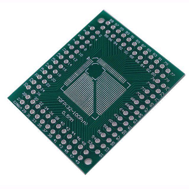 Adaptador FQFP TQFP 32 44 64 80 100 LQF SMD para DIP 0.5/0.8 mm