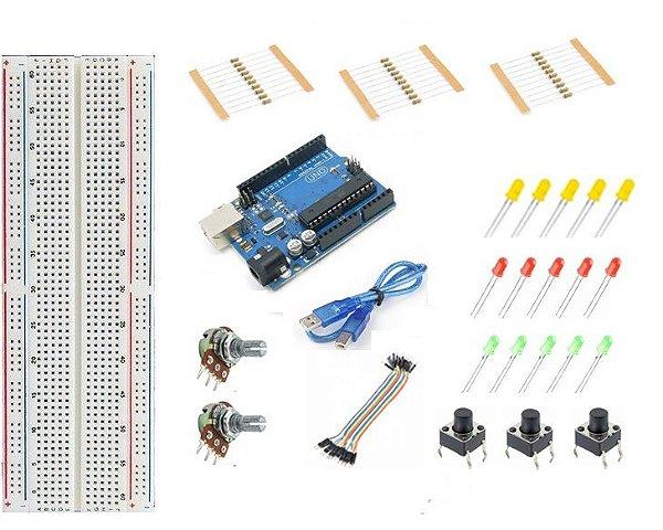 Mini Kit Arduino Uno R3 Básico