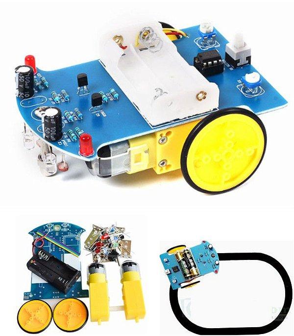 Kit Robô Seguidor de Linha D2-1 DIY