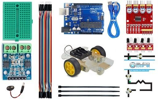 Kit Robô Seguidor de Linha V2 com Manual de Instruções