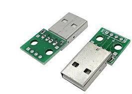 Módulo Conector Usb Macho para DIP-4