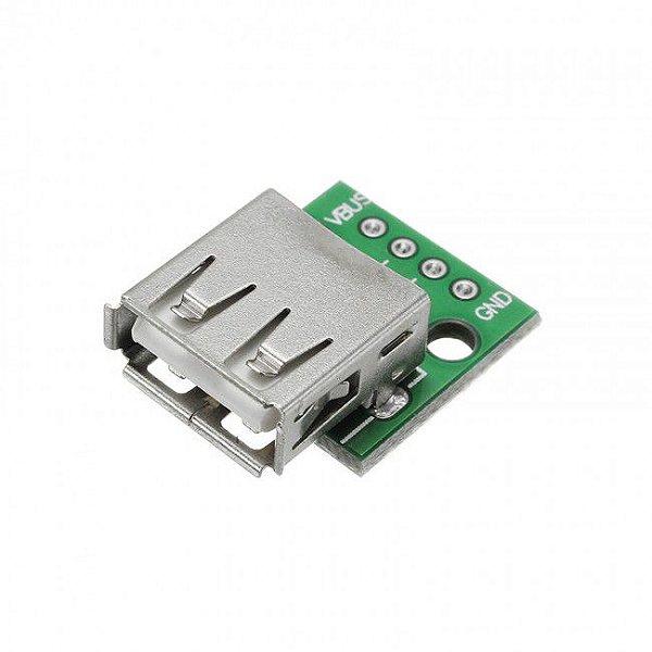 Módulo Conector Usb Fêmea para DIP-4