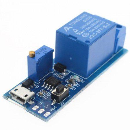 Módulo Relé Temporizador 5-30V com Trigger Micro Usb