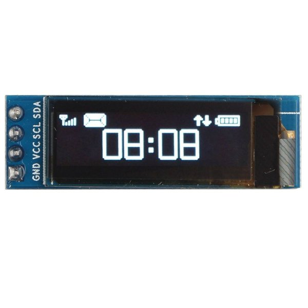 "Display Oled 0.91"" 128x32 I2C Branco"