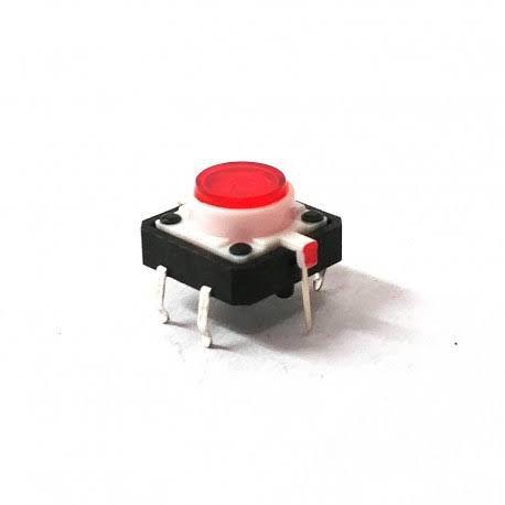 Chave Táctil Botão com Led Vermelho