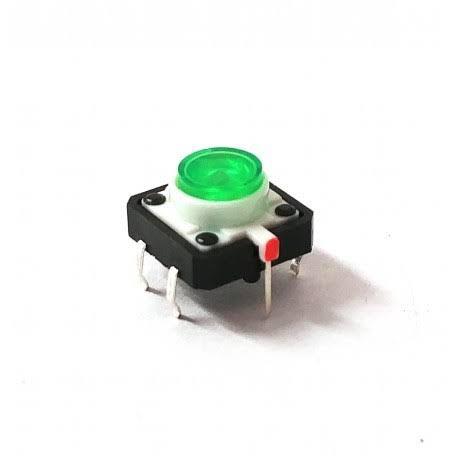 Chave Táctil Botão com Led Verde