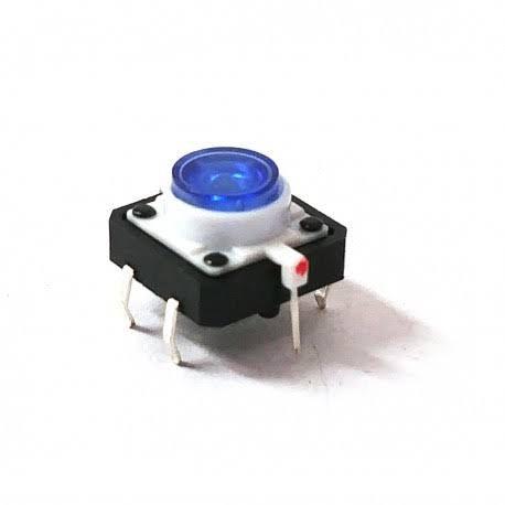 Chave Táctil Botão com Led Azul
