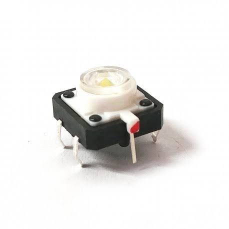 Chave Táctil Botão com Led Branco