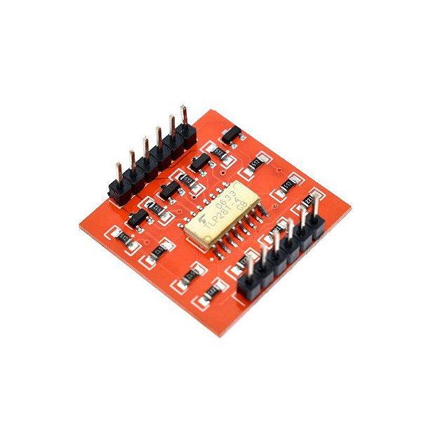Módulo Optoacoplador Isolador 4 Canais Tlp281