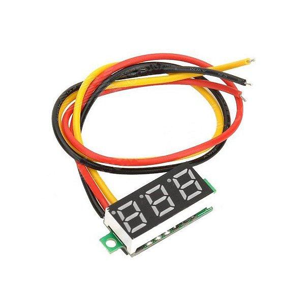 Voltímetro Digital 3 Dígitos LED - Azul