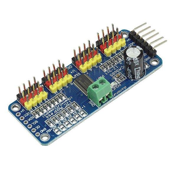 Módulo Controlador PWM 16 Canais PCA9685