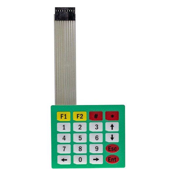 Teclado de Membrana Matricial 4x5 20 Teclas