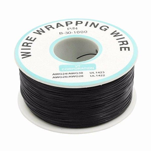 Fio Wire Wrap 30AWG Preto - Venda por Metro