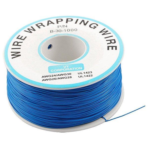 Fio Wire Wrap 30AWG Azul - Venda por Metro
