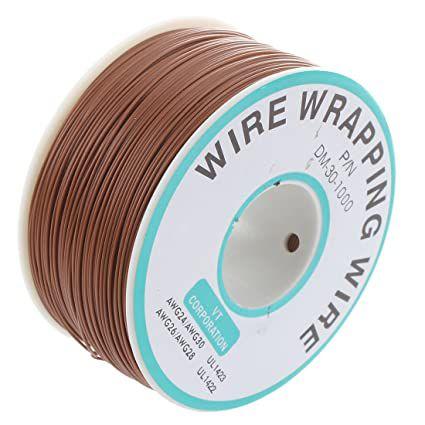 Fio Wire Wrap 30AWG Marrom - Venda por Metro