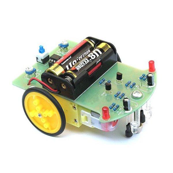 Kit Robô Seguidor de Linha 2 Rodas DIY