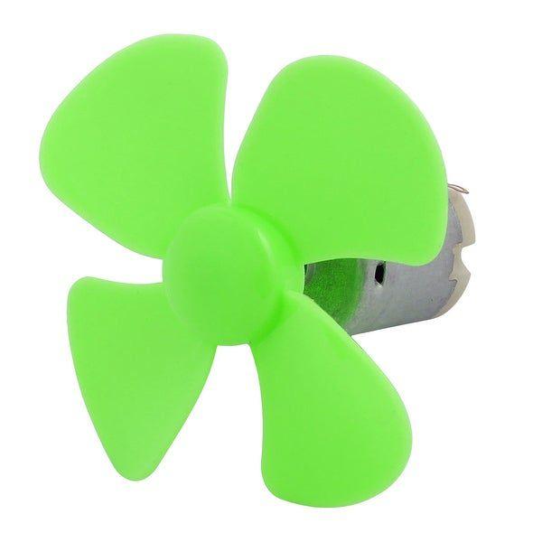 Micro Ventilador Hélice para Motor DC Verde