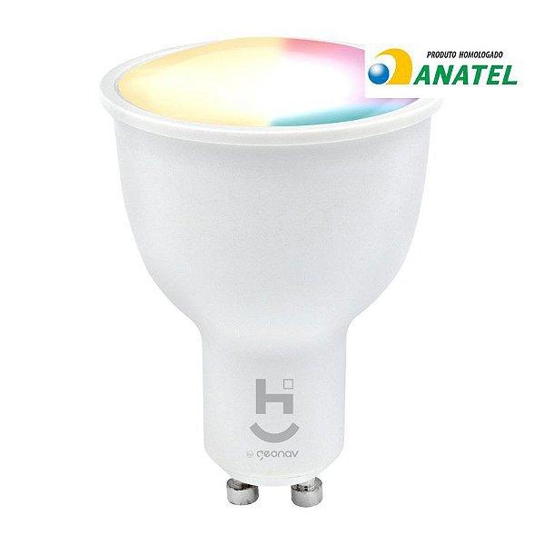 Lâmpada Led RGBW Dicróica Wifi Inteligente
