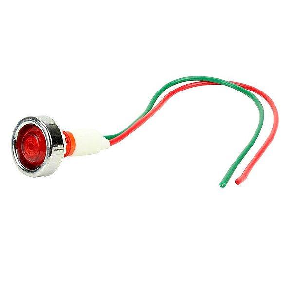 Sinaleiro Olho de Boi XD10-7 12V Vermelho