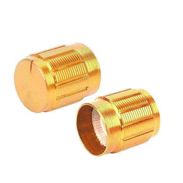 Knob Metálico 6mm Dourado