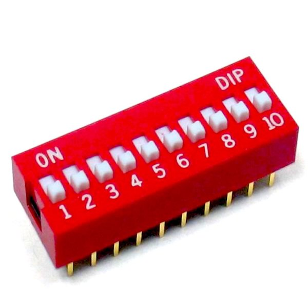 Chave DIP Switch 10 Vias