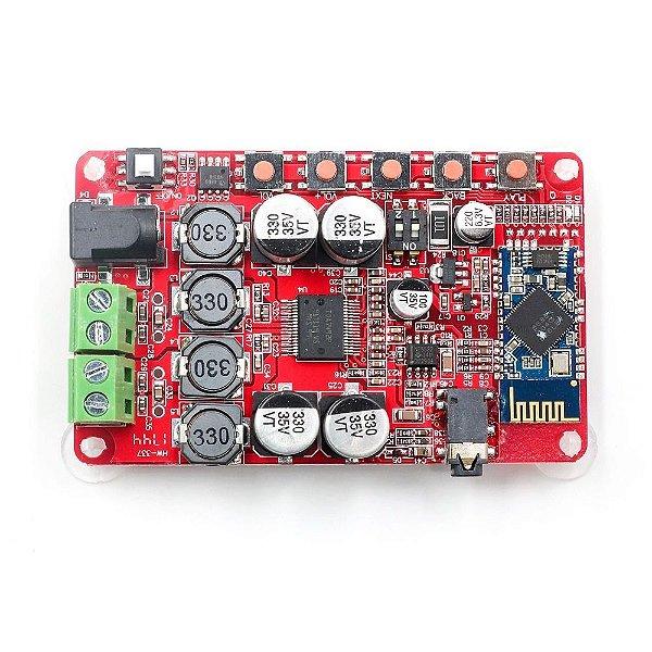 Módulo Amplificador de Áudio com Bluetooth TDA7492P