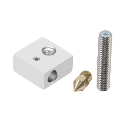 Kit Bloco Aquecedor + Garganta PTFE 30mm + Nozzle 0.4mm M7/MK8