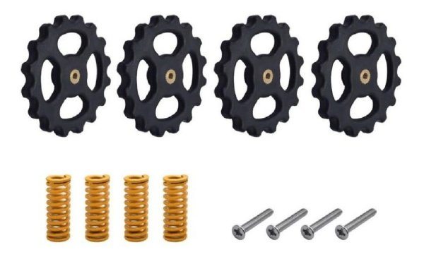 Kit com 4 Conjuntos Nivelamento para Mesa Aquecida Impressora 3D