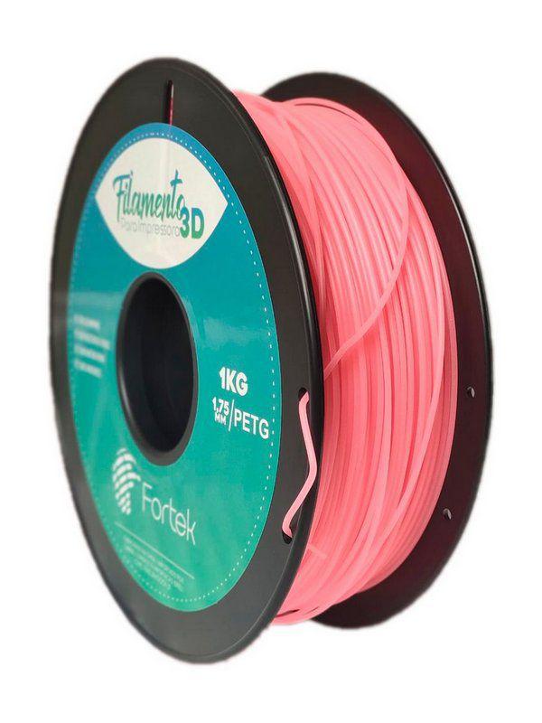 Filamento Petg 1.75mm 1Kg Laranja Fluorescente