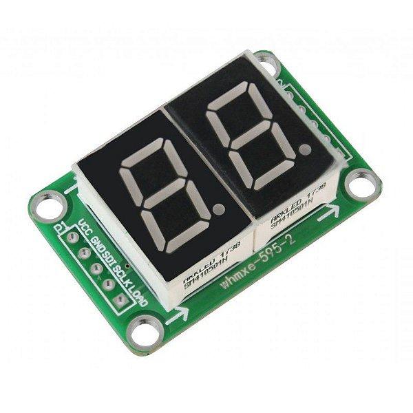 Módulo Display 7 Segmentos 2 Dígitos com 74HC595