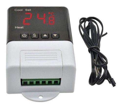 Termostato Controlador de Temperatura DTC1200 110/220V 10A