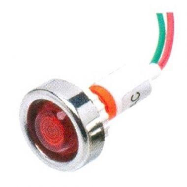 Sinaleiro Olho de Boi XD10-7 24V Vermelho