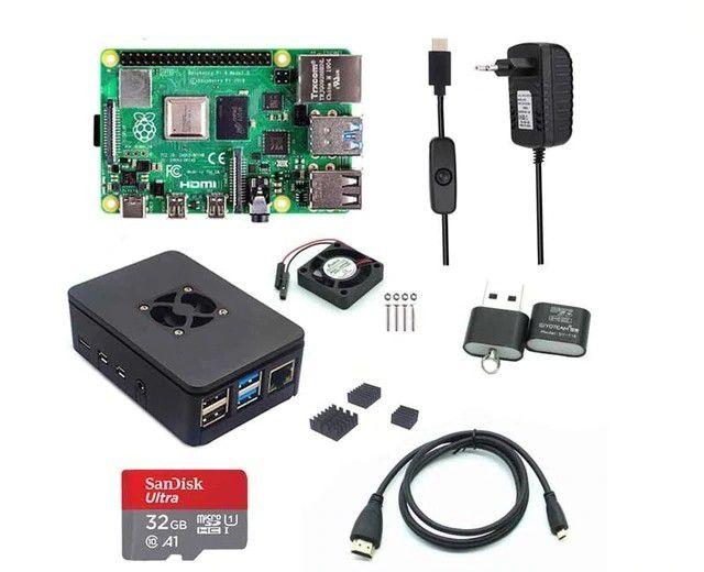 Kit Raspberry Pi 4 Anatel 4GB Completo