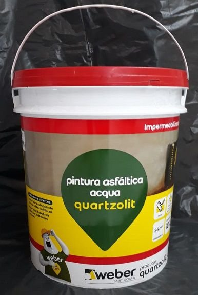 Pintura Asfaltica Acqua 3,60 LT - QUARTZOLIT