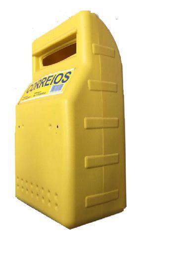 Caixa de Correios Para Grade Amarela Média - WORKER