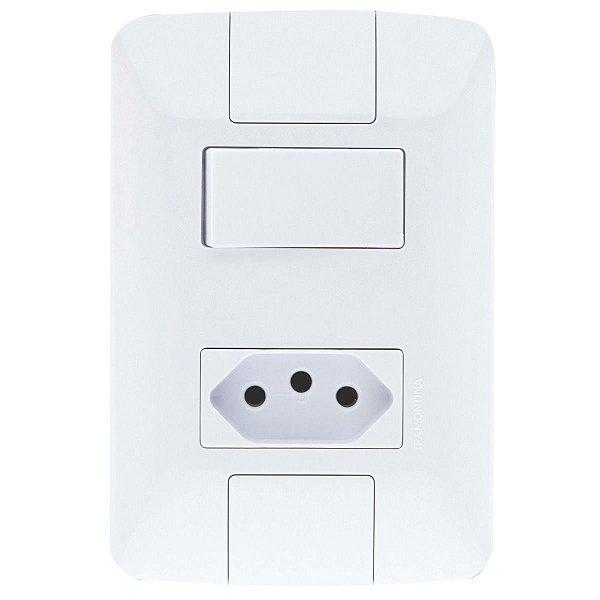 1 Interruptor Simples 6A + 1 Tomada 2P+T 10A ARIA - TRAMONTINA
