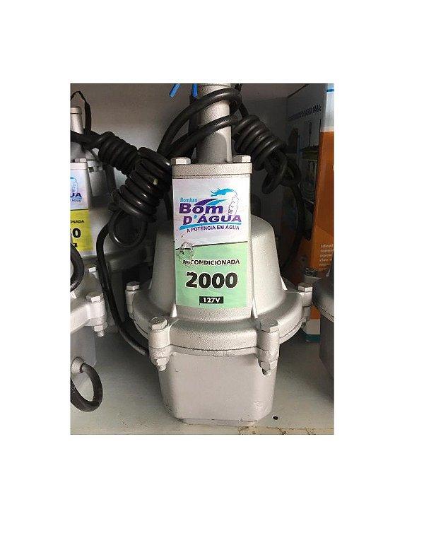 Bomba D'Agua 2000 Turbo 127V Recondicionada - Bom D'Agua