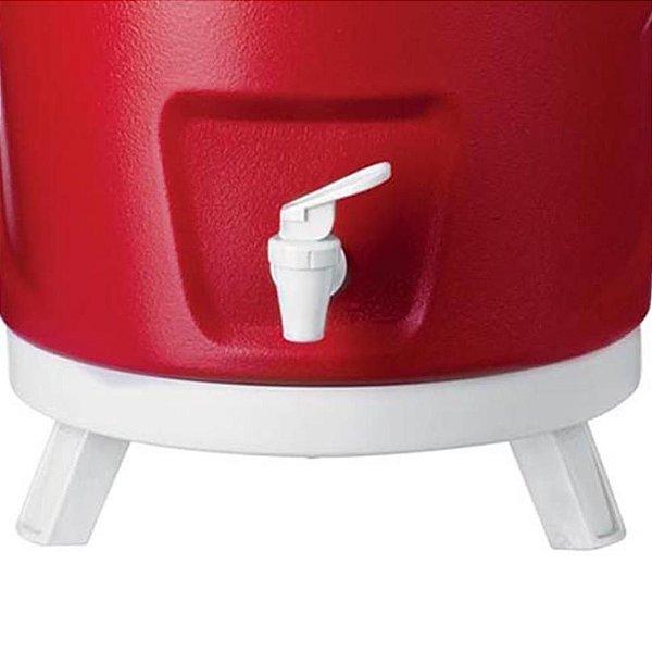 Garrafa Térmica 9 Litros Tripé - Vermelha