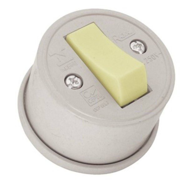 Interruptor Externo Redondo 1 Tecla